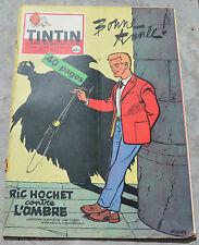 Journal Tintin n°584,31 décembre 1959,spécial nouvel an,une de Tibet, Ric Hochet