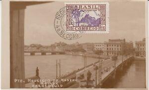 Ansichtskarte Brasilien  Recife Pernambuco  Pte. Mauricio De Nassau  1936