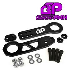 BP Black Front Rear JDM Racing Tow Hook Set for 99-12 Honda Civic Type R Si