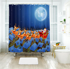 3D Christmas  Xmas 917 Shower Curtain Waterproof Fiber Bathroom Windows Toilet