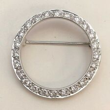 Platinum Vintage 1 1/5 CTW Diamond Brooch/Pin