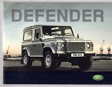 Land Rover Defender 2008-09 UK Market Sales Brochure 90 110 130