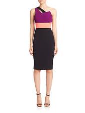 SOLD OUT Roland Mouret Latymer One-Shoulder Colorblock Dress sz 10