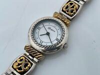 Brighton Ladies Wristwatch Reversible Band Black/Red Silver/Gold Tone Camden