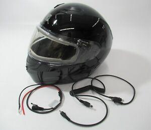 XL ~ CKX Black Flex RSV Snow Modular Helmet w/Electric Shield - 506045