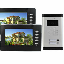 "NEW!! 7"" Color LCD Video Door Phone Wired Intercom Doorbell IR Camera 2 Monitor"