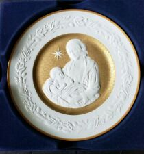 1976 Franklin Porcelain Silent Night Christmas Plate - Original Packaging