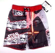 Star Wars Swim Trunks Size 4 Boys Darth Vader Stormtrooper Dark Side Black Red