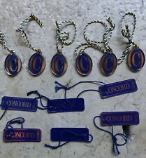 Concord 10 pcs watch tags etichette - NOS/ NEW!