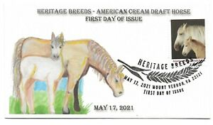 2021 5590 Heritage Breeds American Cream Draft Horse #8 of 10 First Day of Issue