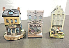 Bailey's Limited Edition Collectible Miniature Houses Three (3) 1996, 1999, 2000