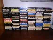 HUGE LOT OF 84 VINTAGE 8 TRACK CASSETTE TAPES ROCK & ROLL COUNTRY CLASSICAL R&B