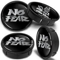 4x 60mm - 56mm Universal Silver Black Rims Alloy Wheel Center Hub Centre Caps