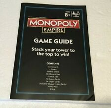 INSTRUCTIONS GAME GUIDE Monopoly Empire replacement game part FREE SHIPPING