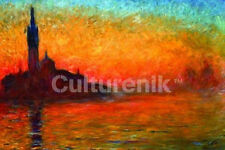DUSK IN VENICE - MONET ART PRINT POSTER - 24x36 SHRINK WRAPPED - CLAUDE 3043