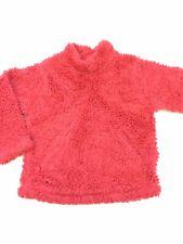 Girls MINI BODEN Sz 5-6Y Solid Pink Mock Neck Long Sleeve Front Pocket Sweater