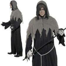 Adult Mr Grim Reaper Costume Mens Soul Taker Halloween Fancy Dress Outfit