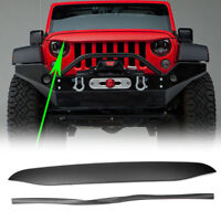 Black Undercover Nighthawk Light Brow Cover For 2007-2017 Jeep Wrangler JK Grill