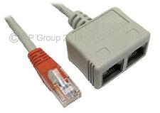 Splitter LAN Ethernet Cat5e Cavo economizzatore VV per reti voce RJ-ECON Cat5
