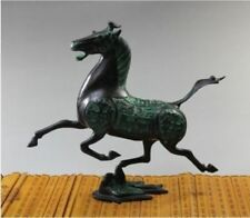 "Chinese bronze statue horse fly swallow Figures size:8.2""x 9.3"""
