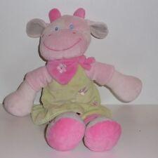 Doudou Vache Nicotoy - Rose Vert