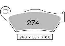 Couple plaquettes frein arrière organique MOTO MORINI GRAN PASSO 1200 08 TROFEO