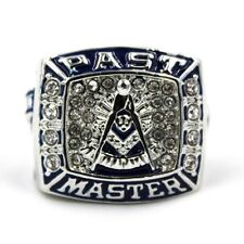 Past Master Masonic Ring Blue Lodge Freemasonry Square Half Sizes 6-15 GiftBox