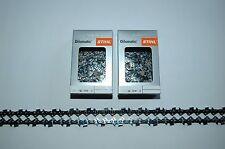 "2x Stihl Sägekette Picco Micro 3 3//8/""P 1,3mm 55TG 40cm 63PM3 Stihl Kettenbox"