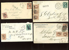 Large Lot of Interesting 19th Century Postage Due Covers   (Stock #Lot 400)