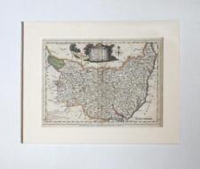 ANTIQUE MAP - (SUFFOLK)  J ELLIS   1766 (MOUNTED)