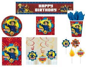 Fireman Sam Theme Boys Party supplies Cups Plates Napkins Tableware Decoration