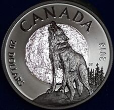 2018 1 OZ Pure Silver Coin - Nocturnal By Nature: The Howling Wolf  ID #31-4