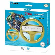 Zelda >> Mario Kart 8 link racing wheel << Steering Wheel Nintendo Wii-U Golden NEW NEW