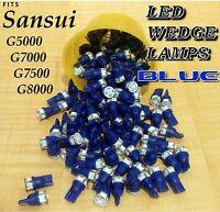 (5) WARM BLUE 8v LED WEDGE LAMP G-5000 G-7000 G-7500 G-8000 G-9000