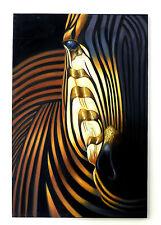 Quadro dipinto a man zebra tela dipinta olio su tela 90X60
