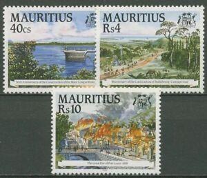 Mauritius 1995 Jahrestage Brand Stausee 797/99 postfrisch