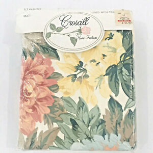 "Croscill Home Fashion Floral Pole Top Drapery Lined Panels Tiebacks 80"" x 84"""