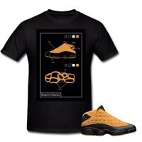 Tshirt For The Nike AIR JORDAN 13 Wheat. Blueprint Additional Sizes Available