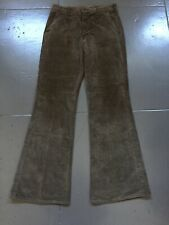 Vintage 1970s Lee Bell Bottom Flare Disco Plaid Pattern 42 Talon Pants Brown Usa