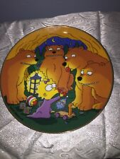 """1992 Franklin Mint The Simpsons """"Maggie And The Bears� Plate Litmited Edition"""