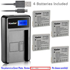 Kastar Battery LCD Charger for Canon NB-4L NB-4LH & Canon PowerShot ELPH 300 HS