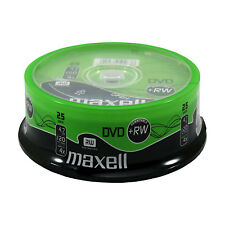 25 MAXELL DVD+RW Rohlinge 4x Full Speed 4,7GB  in Spindel