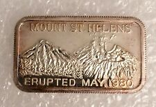 GOLD-1 Mount St. Helens Reeded Edge 999 SILVER ART BAR 1 Troy oz Nice Design