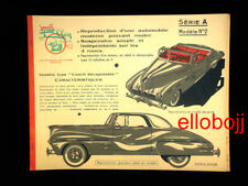 Jouets ELLEN vintage Maquette carton de 1956 - expédition en carton solide