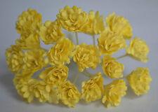 100 LIGHT YELLOW GYPSOPHILA miniature Mulberry Paper Flowers wedding crafts