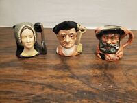 Lot of 3 Royal Doulton Tableware Character Mug Jug Miniatures Made in England
