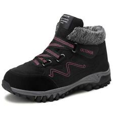 Womens Fur Lined Snow Boots Ladies Winter Warm Hiking Trail Walking Shoes Size