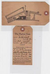 PARKER SHOOT GUN TAGS