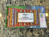 HISTORY & FUNCTIONS OF THE SUPREME COURT OOP VHS HISTORY EDUCATIONAL LEARNING