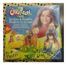 Creation, Ricamo e Intreccio, Gioco Creativo Ravensburger 6+ Embroidery Knotting